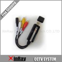 al por mayor ventas al por mayor de cctv-Envío gratis USB DVR 1 Canal CCTV Cámara de Vídeo de Captura de Audio Adaptador,XR306,ventas al por mayor