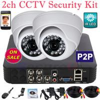 El más barato más bajo del sistema de seguridad de video vigilancia cctv canal 2 canales precio kit casero de vídeo digital cámara de 4 canales Mini HD grabador DVR