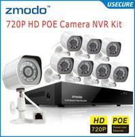 al por mayor circuito cerrado de televisión de cámara de 8 canales zmodo-Zmodo cctv 8CH 720P POE NVR con 8pcs 720P Piscina al aire libre de la red de Cámaras IP Cámaras de video Vigilancia del sistema de 8ch poe