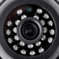 Cheap 4pcs lot 600TVL high resolution Color Indoor night vision CCTV dome Camera security camera package for DVR KIT free shipping