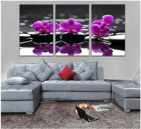 bedroom painted purple - Modern oil painting canvas piece wall art purple flower pictures living room bedroom decoration unique gift hanging wall art