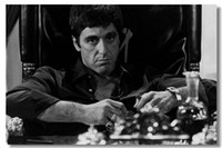 Wholesale Scarface Al Pacino Movie Silk Wall Poster x32 x24 x20 x12 inch Big Huge Room Scar Face Cool Man Prints