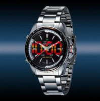 Wholesale 2011 men luxury attractive tungsten steel waterproof dive quartz LED watches A016