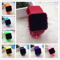 Wholesale Fashion Home Button Electronics Sport Children LED Watch Waterproof Brand Reloj Silicone Running Clock Kids Digital Wristwatches