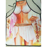 Cheap Funny Greek goddess Printed Apron Sexy Kitchen Cooking Home BBQ Apron Party Gift