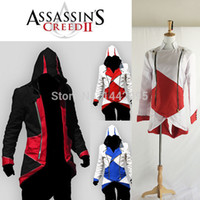 Wholesale Assassins Creed Costume Cosplay Mens Halloween Costume Unisex Assassins Creed Costume Hoodies Jacket Overcoat
