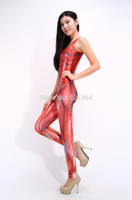Wholesale 2015 New Japanese anime Attack On Titan Sex Lycra Tights Muscle Jumpsuits Cosplay Halloween costumes