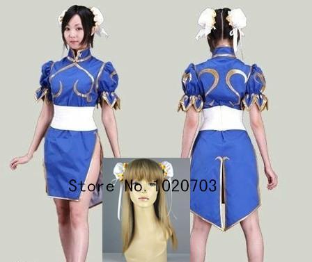 Buy Street Fighter Chun-L Chun Ri Li Dress Cosplay Costume anysize