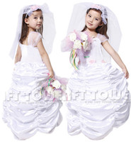 anime wedding girl - M XL New Lovely Bride Children Cosplay Hallowean Costumes for Kids Girl Evening Party Wedding Ball Gown Dresses