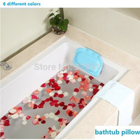 bathtub headrest - new fashion Bathroom tub bathtub pillow bath pillow headrest sucker waterproof broken glass pattern bath pillow