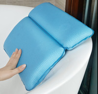 Wholesale Memory Cotton Spa Bath Pillow with Suction Cup