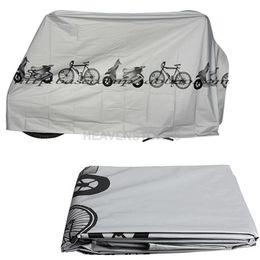 Wholesale Bike Motorcycle Rain Dust Cover Waterproof Outdoor Scooter Protector Gray hv3n