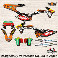 background toppings - Top Quality Team Graphics amp Backgrounds Decals M Stickers Kits For KTM SX SXF EXC Free Shpping