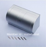 aluminium finish - Aluminium Finish Double Roll Toilet Paper Holder w Waterproof Space