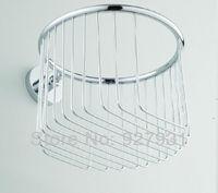 bath baskets - Chrome Finished Bathroom Toilet Paper holder Brass Bath Toilet Paper Basket