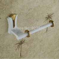 baking paper roll - Creative Baked White Paint Roll Paper Holder Wall Mounted Bathroom Toilet Paper Holder Bar