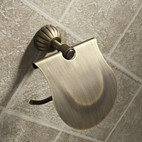 antique brass hook - Classic Antique Brass Toilet Roll Paper Holder Towel Rack Hook w Cover