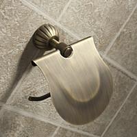antique hook rack - Classic Antique Brass Toilet Roll Paper Holder Towel Rack Hook w Cover