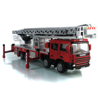 Cheap Alloy fire engine fire truck ladder 40cm car model toy toy car model models toys & hobbies classic toys crafts