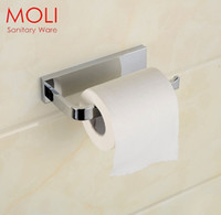 bath paper holder - Toilet Paper Holder for Bathroom Square Chrome Bath Hardware