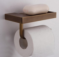 antique brass bathroom hardware - Bathroom Antique Brass Toilet Roll Paper Holder Tissue Holder Cheap Unique Bathroom Accessary Bathroom Hardware With Soap Dish