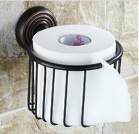 basket stands - Oil Rubbed Bronze Toilet Paper Basket Stand Cosmetic Shower Caddy Storage