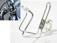 atv cup holder - Silver Bar Can Cup Drink Water Bottle Holder with Adapter Stainless For Motorcycle Bike ATV