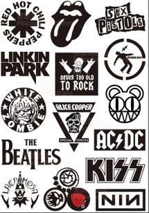 Rock Band Stickers Set Waterproof Rock Sticker for Laptop ...