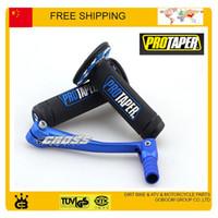 alloy gear lever - MX Dirtbike Cross Pro Taper Handle Grip Grips blue alloy gear shift lever dirt pit bike motorcycle accessories