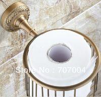 antique shower hardware - New Brass Bathroom Toliet Paper Holder Shower Orgnizer Basket Antique Brass Cheap Hardware Wall Mounted