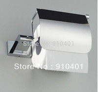 bathroom tissue sale - Hot Sale And Retail Promotion Solid Brass Chrome Bathroom Toilet Paper Holder Waterproof With Cover Tissue Bar
