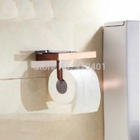 bathroom storage sale - Hot Sale And Retail Promotion Modern Brass Rose Golden Wall Mounted Bathroom Toilet Paper Holder W Storage