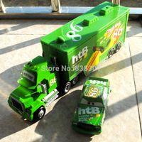 Wholesale 2pcs pack Original Scale Pixar Cars Toys Chicks Hicks And HTB Hauler Diecast Metal Car Toy For Children