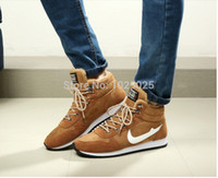 Wholesale New Leather Men Boots Fashion Warm fur Brand ankle boots Shoes men for Autumn Winter shoe top quality men sneakers