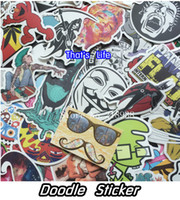 accessories for laptops - vinyl stickers for car sticker decal bicycle laptop sticker on car styling sticker bomb doodle motorcycle accessories