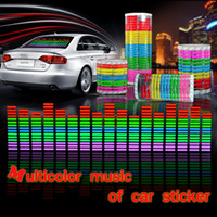 backlight sheet - 90 CM EL Sheet Car Stickers Equalizer Music Rhythm Backlight Panel Glow different backlight styles to choose freeshipping