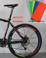 bicycle stripe sticker - 1 Sheet Stripes Reflective Bike bicycle rim sticker fit for Disc brake Bicycle quot wheel Colors