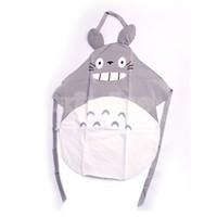 apron length - Hayao Miyazaki Totoro Gray Apron inches length