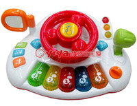 Cheap Multifunctional toys violin child piano educational electronic keyboard story telling artificial steering wheel toy car
