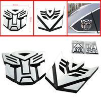 autobots car emblem - car styling Autobots Emblem Badge car Sticker Super Cool Zinc D Body Sticker Metal Sticker Racing Decal Docerstyle stylish