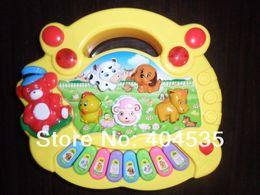 Wholesale Best sale Animal baby piano electronic organ five animal farm music harp children intelligence instruments