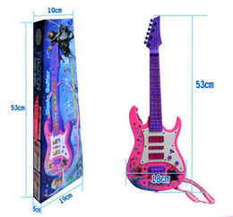 Wholesale Chrismas gift new children s frozen guitar with songs and light learning exercising toy musical instruments guitar for kids
