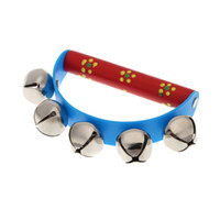 bell ball game - Little Hand Held Tambourine Bell Metal Jingles Ball Percussion Musical Toy for KTV Party Kids Game Colors for Choosing