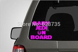 """Free shipping 7""""x6"""" Baby Jedi On Board vinyl car decal stickers, Star Wars car stickers baby on board,s2045"""
