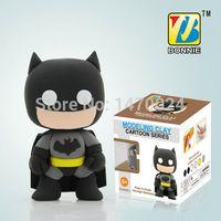 bonnie baby - BONNIE New Superheroes Handgum Polymer Clay Plasticine play dough D Colorful DIY Batman ordenanca BN9989 Black