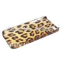 Cheap Wholesale-Free Shipping Ultrathin Leopard Print Hard Case Cover for iPhone 5 5S 4 4S Cases