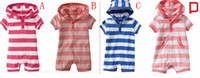 name brand baby clothes - Brand Name Ga Summer children casual clothes lovely baby boy girls rompers infant jumpers kids cotton short sleeve striped wear