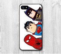 batman chocolate - NEW Chocolate Super Hero Superman Spider Man Batman Funny Cute cat Protective Hard Cover Case For iPhone S