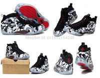 basketball jets - Fighter Jet Black Grey Red Camo Penny Hardaway Brand man Basketball Shoes Air foams One with box size