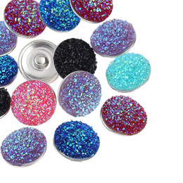 Fine Jewelry !10PCs Resin Snap Buttons Fit Snap Bracelets Mixed 18mm
